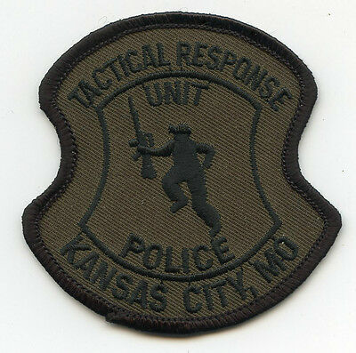 KANSAS CITY MISSOURI MO Tactical Response Unit SWAT POLICE PATCH