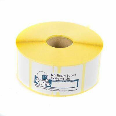 38mm x 25mm WHITE Direct Thermal Labels 2,000 per roll for Zebra type printer