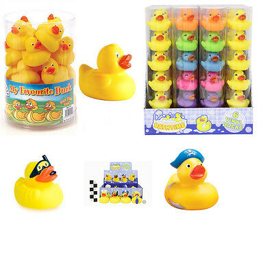 Rubber Ducks Floating Bath Tub Play Time Selection of Various Ducks Yellow Multi