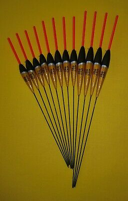 12 x Assorted High Quality Pole Fishing Floats (Pack 305R12)