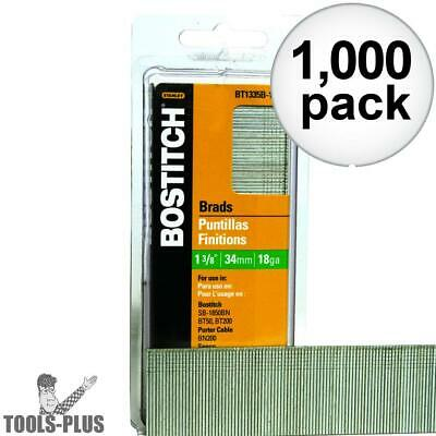 "1000pk 1-3/8"" 18-Gauge Brads Bostitch BT1335B-1M New"