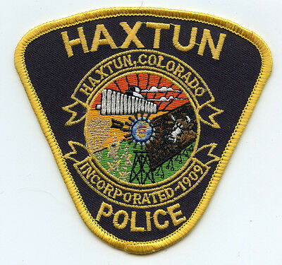 Haxtun Colorado Co Police Patch