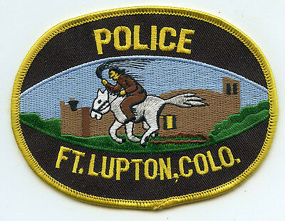 old vintage FT fort LUPTON COLORADO CO POLICE PATCH