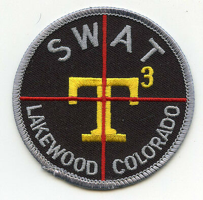 LAKEWOOD COLORADO CO sniper crosshairs SWAT POLICE PATCH