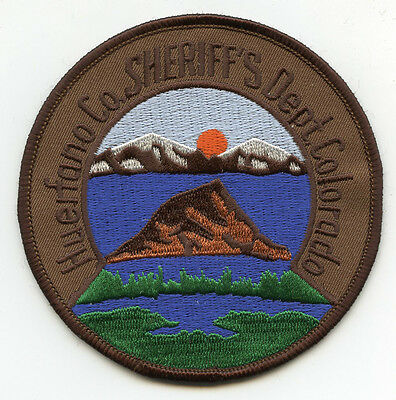 old vintage HUERFANO COUNTY COLORADO CO SHERIFF POLICE PATCH