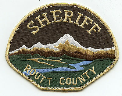 Routt County Colorado Co Sheriff Police Patch
