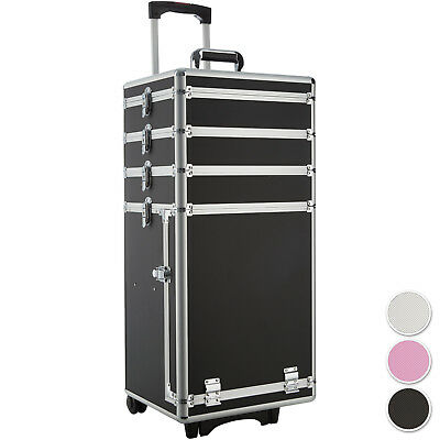 Valigetta Beauty Case Bauletto In Metallo Per Unghie Nail Art Make Up Carrello
