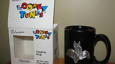 WARNER BROTHERS LOONEY TUNES SYLVESTER CAT COFFEE CUP MUG CUP   RAWCLIFFE pewter