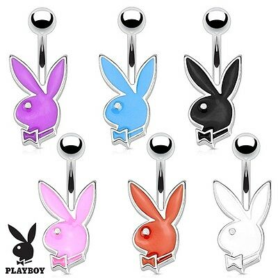 New Genuine Novelty Playboy Bunny Rabbit Petite Belly Navel Bar Choose Colour