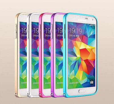 Luxury Slim Aluminum Hard Metal Bumper Frame Case for Samsung Galaxy S5 SV I9600