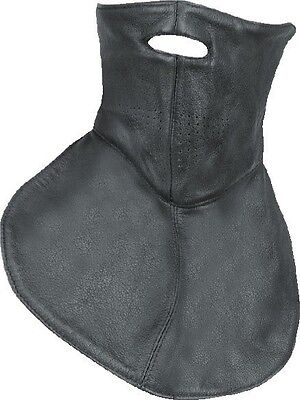 Unisex Leather Fleece Lined Face Mask w// Strap Closure One Size Fit Most