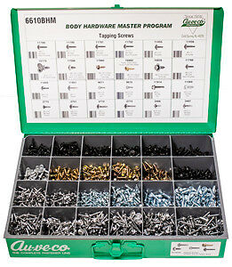 (1) Auveco 6610BHM KIT - CHROME & BLACK SEMS & HEX WASHER HD TAPPING SCREWS