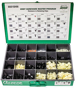 (1) Auveco 6601BHM KIT - SMALL RETAINERS & RETAINING CLIPS