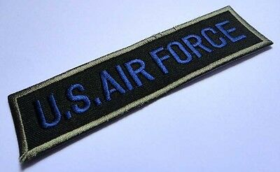 #2 NAME TAG U.S. AIR FORCE ARMY MILITARY Embroidered Iron on Patch Free Shipping