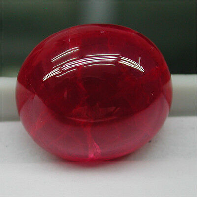 Huge!22.80ct Excellent  Russia Diffusion Pigeon Blood Red Ruby Chahtum Lab  Cab~