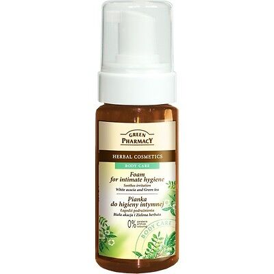 GREEN PHARMACY FOAM FOR INTIMATE HYGIENE GREEN TEA washes& refreshes