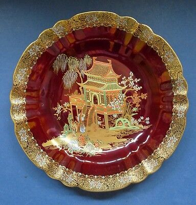 """VERY FINE CARLTON WARE ROUGE ROYALE """"NEW MIKADO""""  PLATE"""