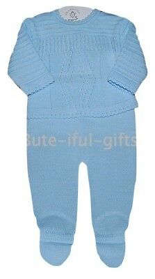 Baby Boy's Spanish Style 2 Piece Knitted Winter Set/Outfit Newborn & 0-3 Month
