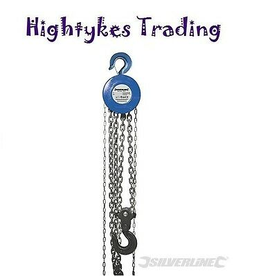 Chain Block & Tackle Engine Lifting 5 Ton Hoist Pulley Winch 282517