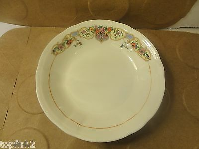 "KT&K Ivory, Berry Dish of Bowl, Floral Pattern, 5 1/2"" Diameter (Used/EUC)"