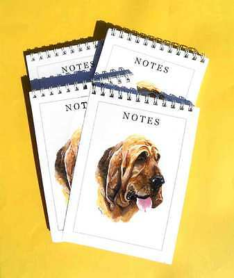 Bloodhound Pack of 4, A6 Dog Note Pads Gift Set