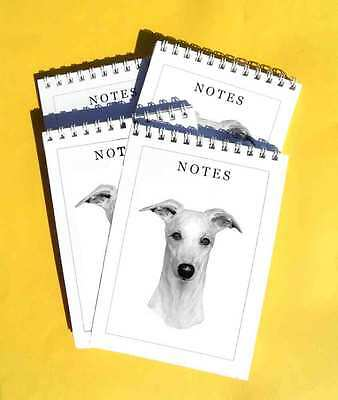 Whippet Pack of 4, A6 Dog Note Pads Gift Set