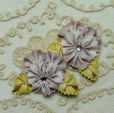 French Picot ombre ribbon Pansies