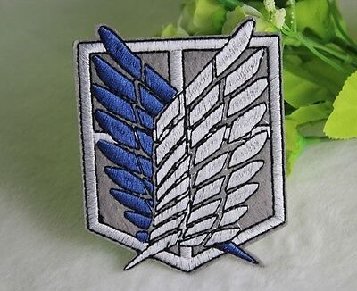 Attack on Titan Cosplay Scouting Legion Recon Corps Patch Embroidery Big Badge