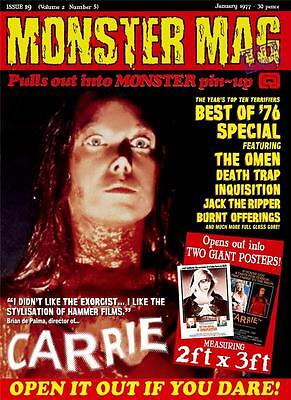 Monster Mag 19 - celebrating the horror hits of 1976! Now mailing
