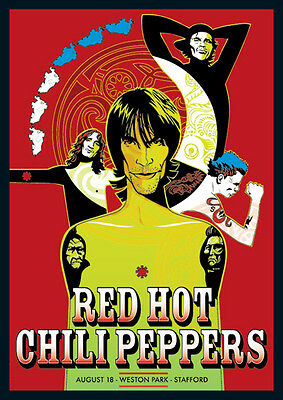 Red Hot Chili Peppers Weston Park Repro Tour Poster