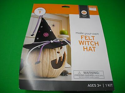 New ! Halloween  Make your own Felt Witch Hat Craft Kits Kids 3 +