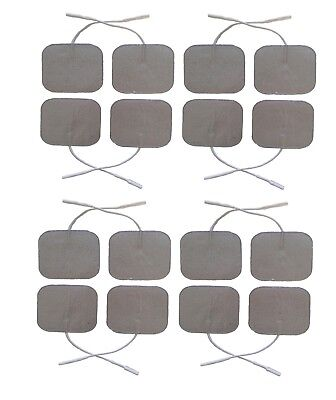 Silver Tens Electrode Pads Premium Quality TENS Pads Set of 4 Electrodes 5 x 5cm
