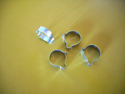 "Vintage Cable Clip / Wiring Clip -  7/8"" Handlebar  Tubing  X 4"