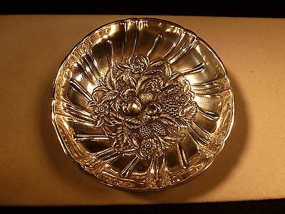 S Kirk & Son Sterling Silver .925 Repousse Bowl Hand Chased Baltimore