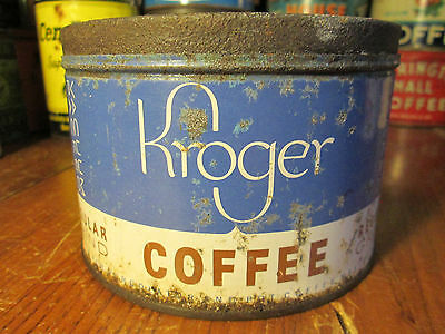 Vintage Kroger Coffee Tin Can Advertising LOT #T748