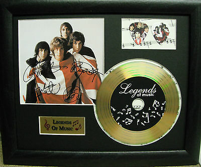The Who (2) Preprinted Autograph, Gold Disc & Plectrum Presentation