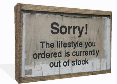 Banksy Graffiti Canvas Print Wall Art Premium Sorry Lifestyle Out Of stock Frame