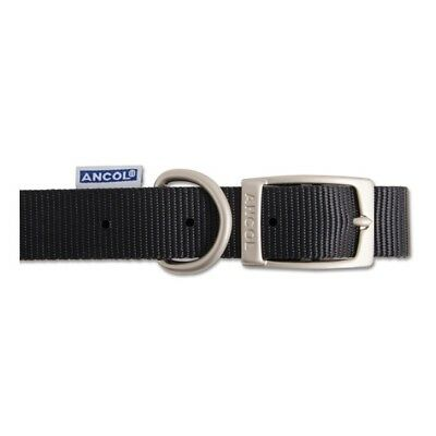 Ancol Nylon Dog Collar Black