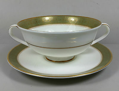 Royal Doulton Belvedere H5001 Cream Soup Coupe / Cup And Saucer (Perfect)