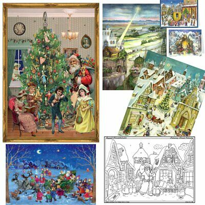 Beautiful German Vintage & Traditional Advent Calendars: 2 SIZES, many designs.