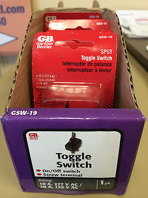 SALE! 5 PACK GARDNER BENDER TOGGLE SWITCH GSW-19 NON LIGHTED DOUBLE INSULATED