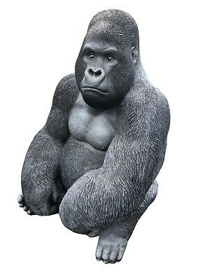 Gorilla Sculpture , Silver Back , Resin Life Like Gorilla King Kong mighty joe