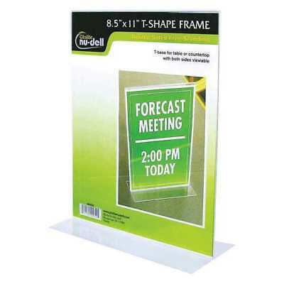 NUDELL 38020 Sign Holder,Freestandng,8-1/2x11,Acrylic