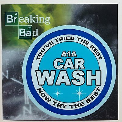 """Breaking Bad A1A Car Wash Logo Car Window Sticker Decal 4 3/4"""" Officially Licens"""