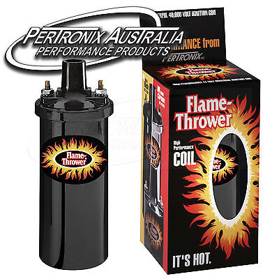 Pertronix Flame-Thrower Coil - 3.0 ohm - 4 & 6 Cyl - Black - 40,000V - #5905