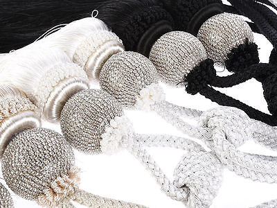 TB1- Pair of Large LUXURY Glass Crystal Diamante Curtain Rope Tie Back Tassels