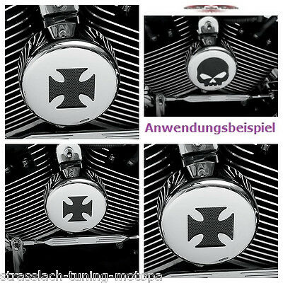 Hupen Cover / Horn Cover CROSS f. HARLEY DAVIDSON (1991-2014 Big Twin + XL Mod.