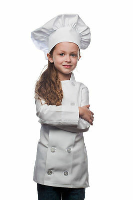 Made in USA! Daystar 955SET Kids Pink Chef Coat and Pink Chef Hat Set