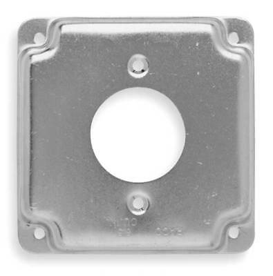 RACO 812C Cover, 4x4, 20 A Receptacle 1.594 In Dia