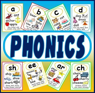 Cd 60 Phonics Flashcards Cd-English Literacy Early Years Key Stage 1+2 Letters